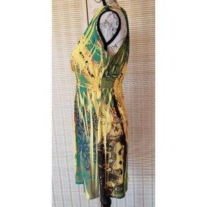 Fresh of LA Dresses - Soft 🍋Yellow 🍋 Print Flowy Halter Dress